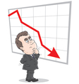 decline in rates vector image
