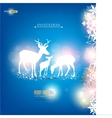 elegant christmas background with deers wit vector image vector image