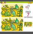 find differences with dragon fantasy characters vector image vector image
