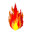 fire isolated flames sign on white background vector image vector image