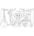 funny little monkey prepares vector image