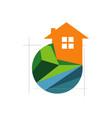 gardening expert landscaping logo design lawn vector image vector image