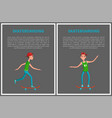 go skateboarding day cards isolated on grey vector image vector image