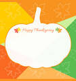 happy thanksgiving day celebration background and vector image vector image