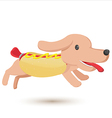 Hotdog Cartoon Comic Cute Style vector image