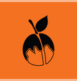 icon of peach vector image vector image