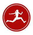 icon triple jump female athlete vector image vector image