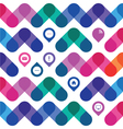 icons for a web design in a colorful geometrical vector image vector image