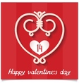 Just sweet love design card for 14 february vector image vector image
