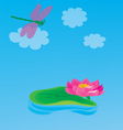 lily pond vector image
