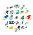 medico icons set isometric style vector image vector image
