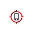 mobile target logo icon design vector image vector image
