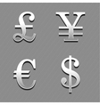 money signs 2 vector image
