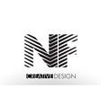 nf n f lines letter design with creative elegant vector image vector image