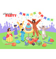 party with animator vector image