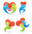 people and love vector image vector image