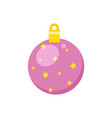 pink ball with stars festive decoration vector image