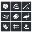 Poaching icons vector image vector image