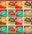 pop art lips copies seamless pattern vector image vector image