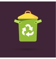 Recycle bin with recycle sign vector image
