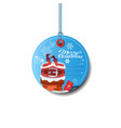 round sale tag holiday discounts merry christmas vector image