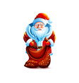 santa claus empty bag without gift vector image vector image