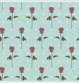 seamless patterns pink roses retro dots vector image