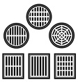 sewer cover black symbol vector image vector image