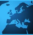 Simple blank map of europe