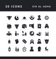 simple icons eid al-adha vector image