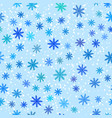 simple pattern with snowflakes on blue vector image