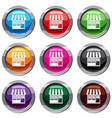 store set 9 collection vector image