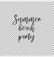 summer beach party transparent background vector image vector image