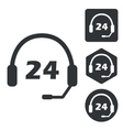 Support 24 icon set monochrome vector image