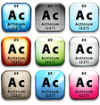 The chemical element Actinium vector image vector image