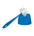 Toilet brush cartoon icon vector image vector image