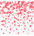 valentines day romantic background of red hearts vector image vector image