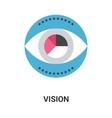 vision icon concept vector image vector image