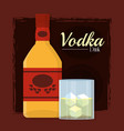 vodka alcohol drink vector image