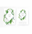 wedding invite invitation floral greenery card art vector image vector image