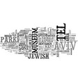what to do with a day in tel aviv text word cloud vector image vector image