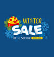 winter sale advertising banner vector image