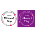 womens day lettering with scribble circle vector image vector image