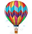 Children riding in the hotair balloon vector image