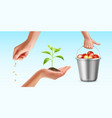 cultivation of plant vector image