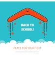 Boomerang flying back to school vector image