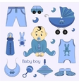 Baby boy design icons vector image