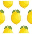 fresh large lemons background hand drawn icons vector image