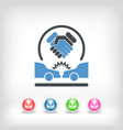 agreement on road accident vector image vector image
