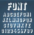 alphabet font incomplete design vector image vector image